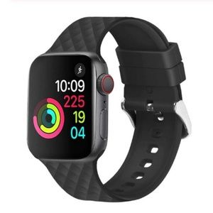 ❤️NEW Black Rhomboid Silicone Band For Apple Watch